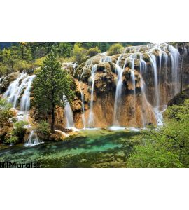 Waterfall Jiuzhaigou Scenic Area Wall Mural