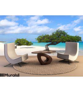Divi Divi Trees Eagle Beach Aruba Wall Mural Wall art Wall decor