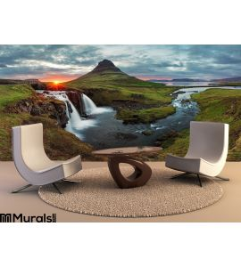 Iceland Landscape Spring Panorama Sunset Wall Mural Wall art Wall decor