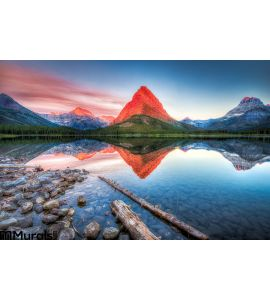 Swiftcurrent Lake Dawn Wall Mural Wall art Wall decor