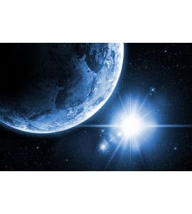 Planet Earth Sunrise Space Wall Mural