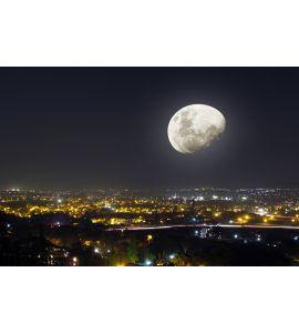 Moon Light Night City View Wall Mural