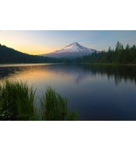 Sunset Trillium Lake Wall Mural