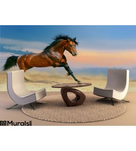 Running Horse Desert Wall Mural Wall art Wall decor