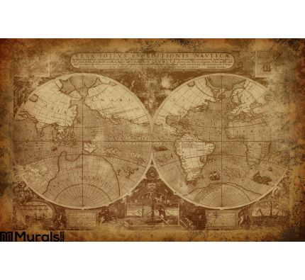 Old World Map Wall Mural Wall art Wall decor