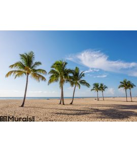 Beach with palms Wall Mural Wall art Wall decor