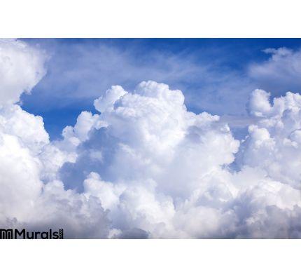 Puffy Clouds Blue Sky Wall Mural Wall art Wall decor