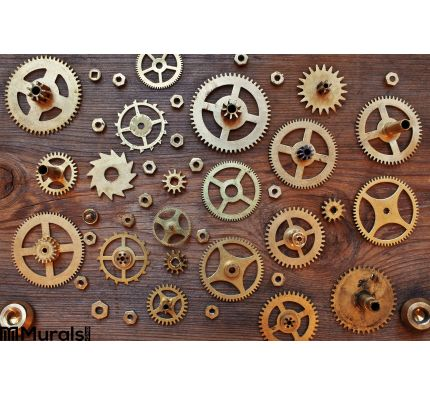 Mechanical Cogs Gears Wheels Wall Mural Wall Tapestry tapestries