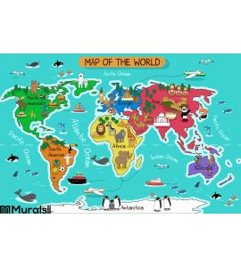 Map of the world Wall Mural Wall Tapestry tapestries