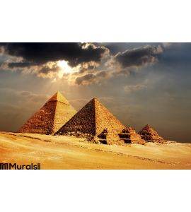 Giza Pyramids Cairo Egypt Wall Mural Wall Tapestry tapestries