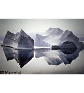 Icebergs Reflected in Still Waters Wall Mural