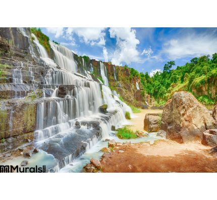 Pongour waterfall Wall Mural Wall Tapestry tapestries