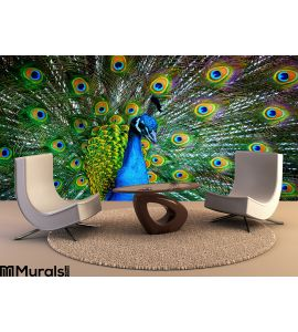 Peacock Wall Mural Wall Tapestry tapestries