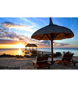 Mauritius Sunset Wall Mural Wall art Wall decor