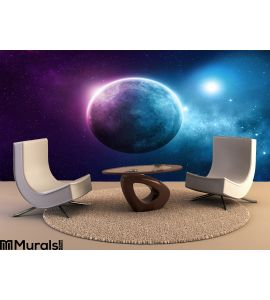 Deep Space Planet Wall Mural Wall Tapestry tapestries