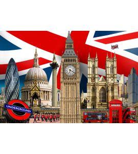 London Skyline Landmark Buildings Wall Mural Wall art Wall decor