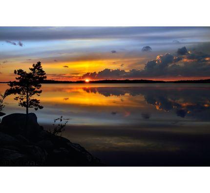 Magic Sunset Lake Pongoma Northern Karelia Russia Wall Mural Wall art Wall decor