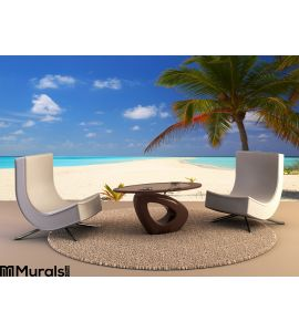 Tropical Beach Wall Mural Wall art Wall decor