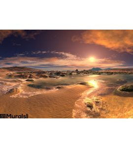 Sunrise Sunset Beach Wall Mural
