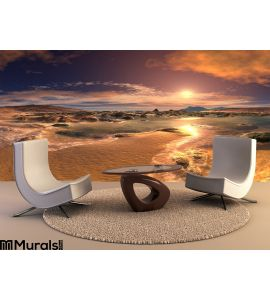 Sunrise Sunset Beach Wall Mural Wall art Wall decor