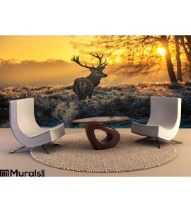 Red Deer Wall Mural Wall art Wall decor