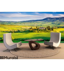 Tuscany landscape at sunset Wall Mural Wall art Wall decor