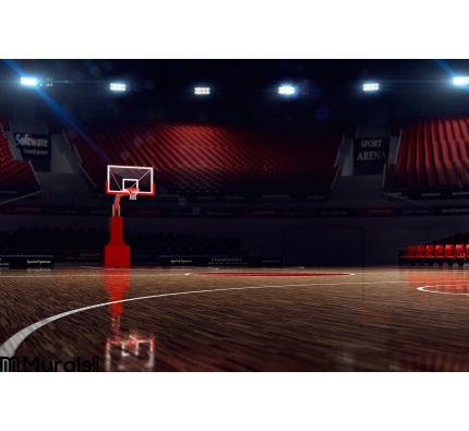 Basketball Court Sport Arena Wall Mural Wall art Wall decor
