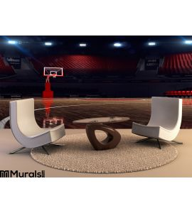 Basketball Court Sport Arena Wall Mural Wall art Wall decor