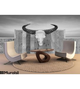 Skull Cow Hung Wall Wall Mural Wall art Wall decor