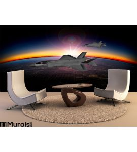 F 35 Modern Stealth Fighter Wall Mural Wall art Wall decor