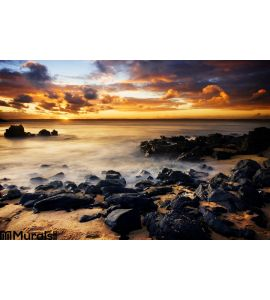Coastal Sunset Wall Mural