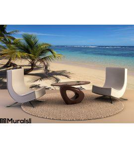 Tropical beach a piece of paradise Wall Mural Wall art Wall decor