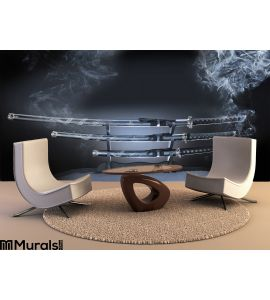 Japanese Katana Set Swords Wall Mural Wall art Wall decor