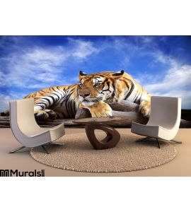 Tiger Looking Something Rock Wall Mural Wall art Wall decor