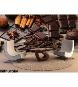 Dark Chocolate Bar Wall Mural Wall art Wall decor