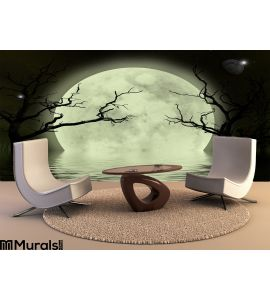 Moon Scary Fantasy Background Wall Mural