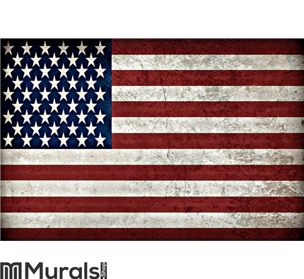 Rustic American Flag Wall Mural Custom Order For Donna