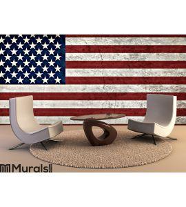 Rustic American Flag Wall Mural Wall art Wall decor