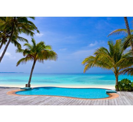 Pool Tropical Beach Wall Mural Wall art Wall decor