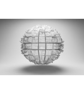 Sphere Abstract Geometric Shapes Wall Mural Wall art Wall decor