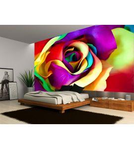 Fake Rose Flower Wall Mural Wall art Wall decor