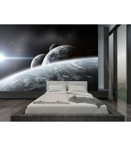 Fantasy Space Planets Illustration Wall Mural Wall Tapestry tapestries