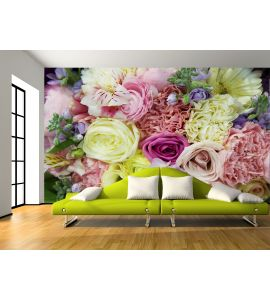 Bouquet Flowers Wall Mural Wall Tapestry tapestries