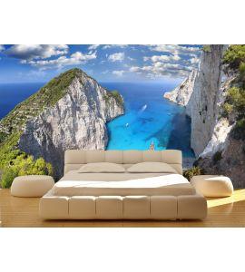 Famous Navagio Beach, Zakynthos, Greece. Caribbean, paradise. Wall Mural Wall Tapestry tapestries
