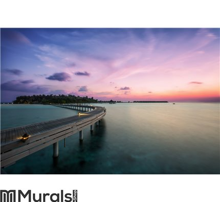 Sunset in the Indian Ocean Wall Mural Wall art Wall decor