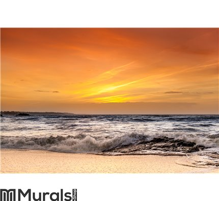 Ocean and sunset Wall Mural Wall art Wall decor