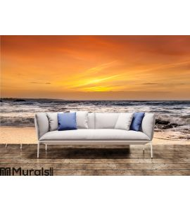 Ocean and sunset Wall Mural