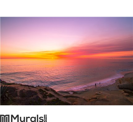 Ocean Sunset 2 Wall Mural Wall art Wall decor