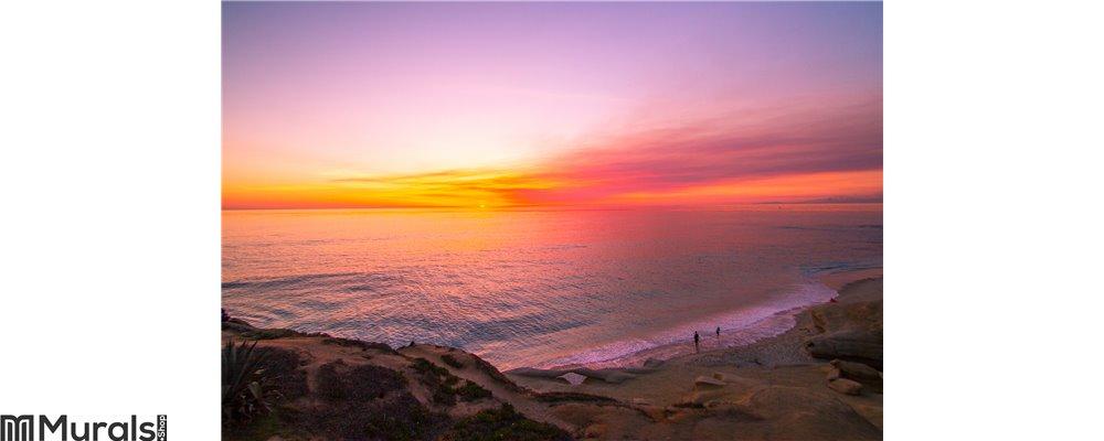 Ocean Sunset 2 Wall Mural