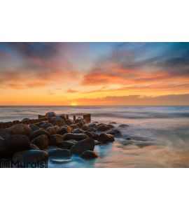 Ocean beach sunset Wall Mural Wall art Wall decor